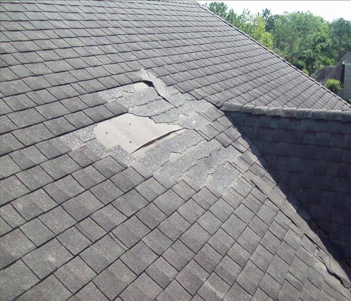 Missing roof shingles