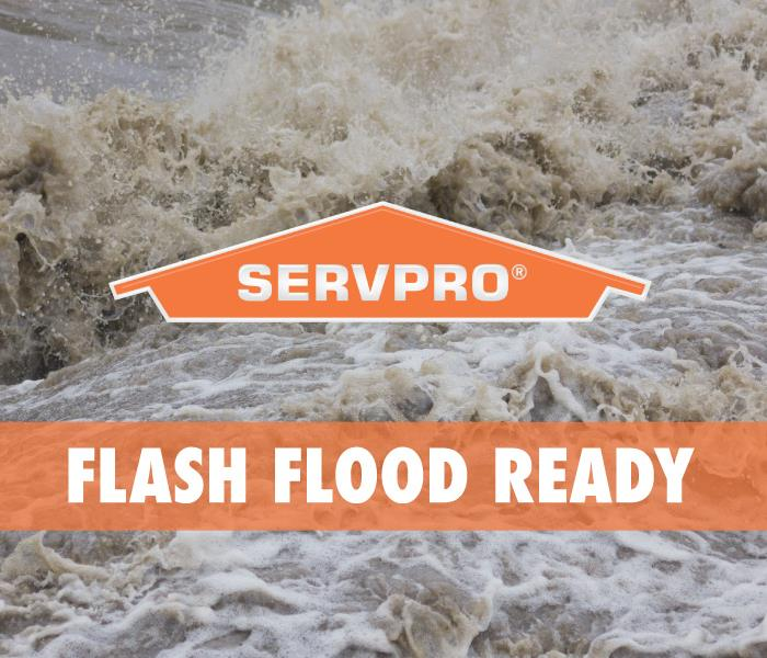 graphic that says flash flood ready